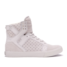 Supra Womens SKYTOP Silver Cloud High Top Shoes | CA-97560
